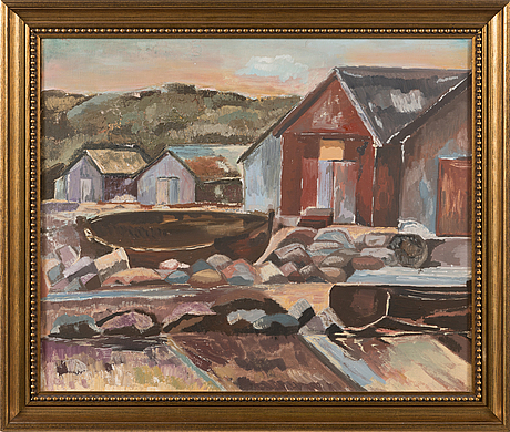 Unknown artist 20th century, oil on canvas, not signed.