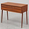 A 'gt 6835' mahogany chest of drawers by rimbert sandholt, ab glas & trä hovmantorp, sweden, 1960s.