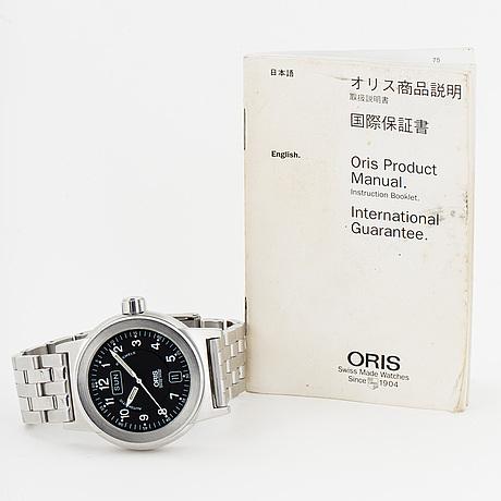 Oris, big crown, armbandsur, 40 mm.
