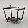 A stained birch drinks trolley, mid 20th century.