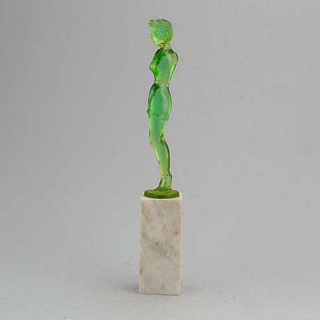 Karin johansson, sculpture, signed and dated -90.