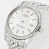 """Rolex, oyster perpetual, datejust, """"no lume dial and hands"""", armbandsur 36 mm."""