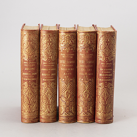 Paul lacroix, 5 vol, le bibliophile jacob, paris fermin-didot.