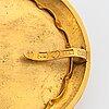 A gustaf möllenborg pietra dura brooch in 18k gold.
