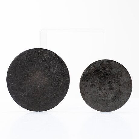 Two bronze mirrors, presumably handynasty (206 b.c.-220 a.d.).
