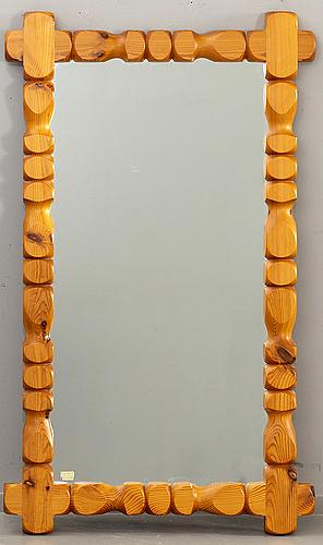 Spegel, glasmäster, markaryd, furu, 1900-talets andra hälft.