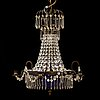 A late 20th century chandelier.