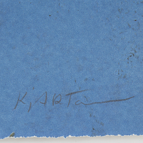 Kjartan slettemark, lithograph in colours, signed 106/250.