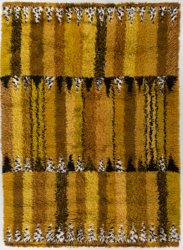 "A carpet, ""stegeborg"", a machine made knotted pile (rya), marianne richter, around 230 x 166 cm."