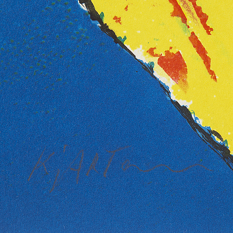 Kjartan slettemark, lithographs in colours, signed 109/250, 111/250.