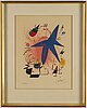 Joan mirÓ, lithograph in colours, 1972, signed in pencil and numbered xxiii/lxxx.
