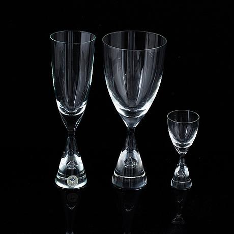 A 'princess' glass service, kastrup holmegaard (28 pc).