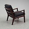 A 1960's 'senator' easy chair by ole wanscher for peter jeppesen.