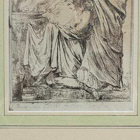 Louis masreliez, etching.
