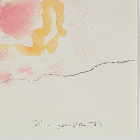 Rune jansson, watercolor, signed and dated -86.
