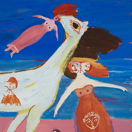 Max walter svanberg, signed max walter s and dated -48. gouache 45.5 x 37.5 cm.