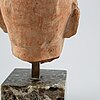 John lundqvist, sculpture. signed. terracotta, total height 19 cm.
