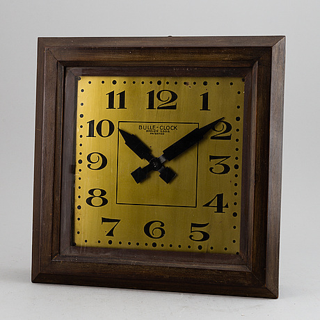 A wall clock, marked bulle-clock brevetÉ s.g.d.g. patented, first half of 20th century.