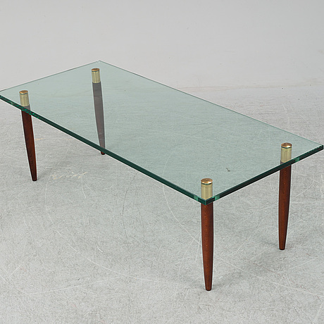 A glass coffee table, Örebro glasindustri, 1960's.