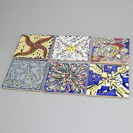 Salvador dalÍ, after, six ceramic tiles, spain.