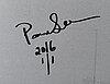 Paola suhonen, värivedos alumiinille, a tergo signeerattu ja päivätty 2016, numeroitu 1/1.
