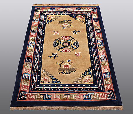A rug, old china, ca 156 x 95 cm.