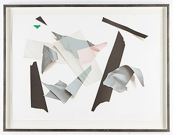 Yrjö Edelmann, lithograph in colours, signed 145/150.
