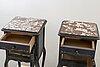 SÄngbord, ett par, rokokostil, 1900-talets andra hälft.