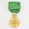 The medal of  the vasa. gold with ribbon in case.