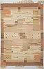 Laila karttunen,  karvalankamatto, aaltosen mattokutomo, kiikka 1930-luku. noin 363x250 cm.