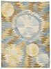 "Barbro nilsson, a carpet, ""solfläckar"", flat weave, ca 287,5-289 x 207-208,5 cm, signed ab mmf bn."