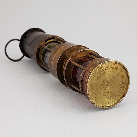 "Gruvlampa, ""spiralarm"". england, 1900-tal."
