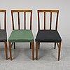 Four birch chairs from nordiska kompaniet. designed 1929.