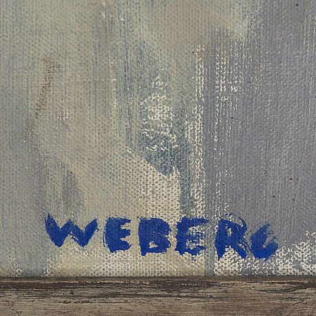 Willie weberg, oil on canvas, signed.