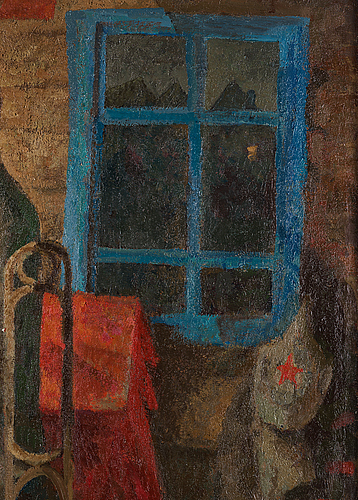 Kim efremov, oil on canvas, signed and dated 1980 on verso.