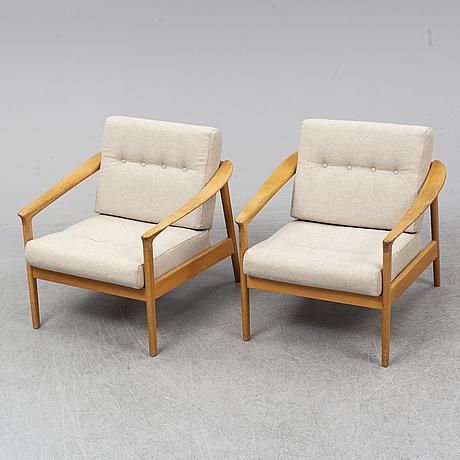 Folke ohlsson, fåtöljer, ett par, monterey/5-162, bodafors, 1950/60-tal.