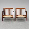 A pair of late 20th century easy chairs.