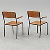 A set of 6 armchairs from the 1960's.