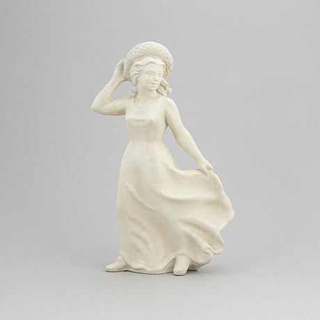Harald salomon, a mid-19th century stoneware figurine from rörstrand.