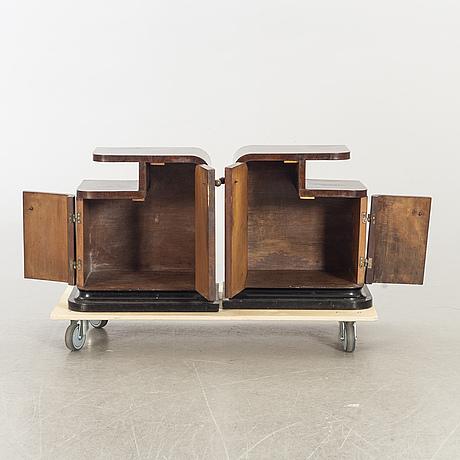 SÄngbord, ett par, art deco-stil 1900-talets mitt.