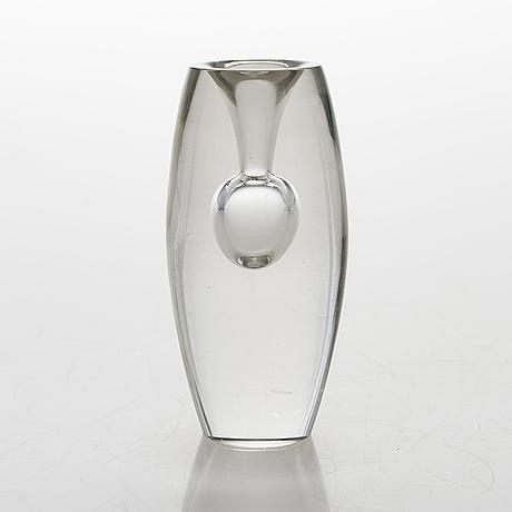 Tapio wirkkala 'tokio' glass sculpture / vase, signed tapio wirkkala iittala -57.