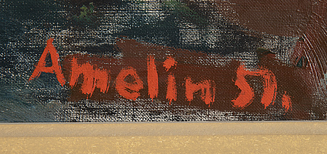 Albin amelin, oil on canvas, signed amelin and dated 51.