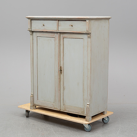 A painted sideboard, mid 19th century.