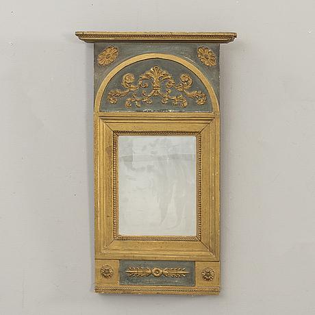 Spegel, empire signerad o frisk (olof f stockholm 1795-1870).