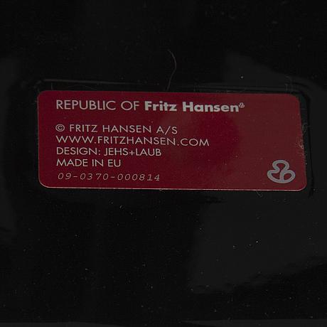 """Fritz hansen, fåtöljer, ett par, """"jl10"""",  jjurgen laub & markus jehs, för fritz hansen, danmark, formgiven 2007."""