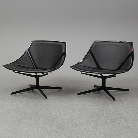 Fritz hansen, a pair of jl10 'space' chair by jjurgen laub & markus jehs for fritz hansen, denmark, designed 2007.