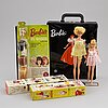Barbiedockor, 2 st med tillbehör, matell 1960-tal.