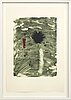 Lennart aschenbrenner, lithograph in color, numbered 8/20 and signed,