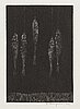 Pentti kaskipuro, wood engraving, signed and dated -62.