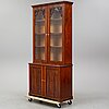 An end of the 19th century  mahogany book cabinet.